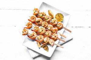 Thai shrimp kebabs